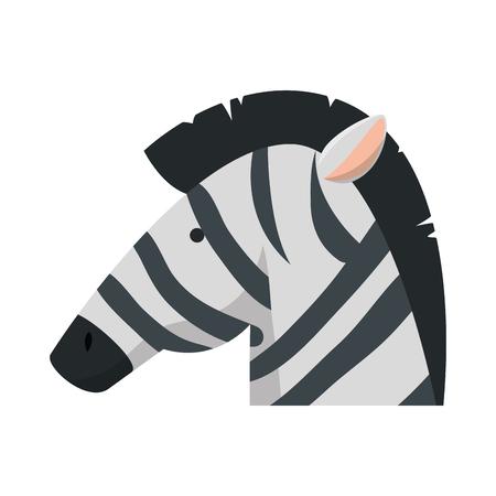 african zebra wild character vector illustration design Stockfoto - 125113432