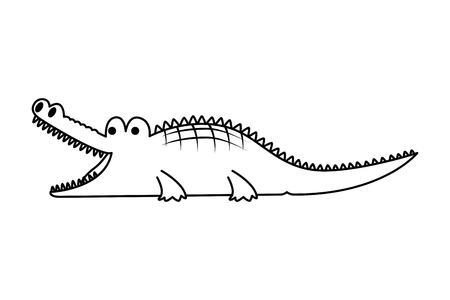 crocodile wild animal icon vector illustration design