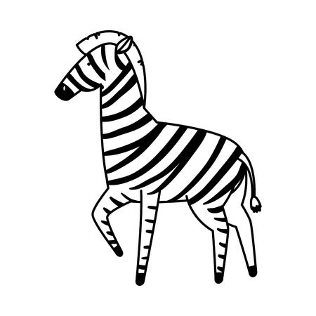 african zebra wild character vector illustration design Stock Illustratie
