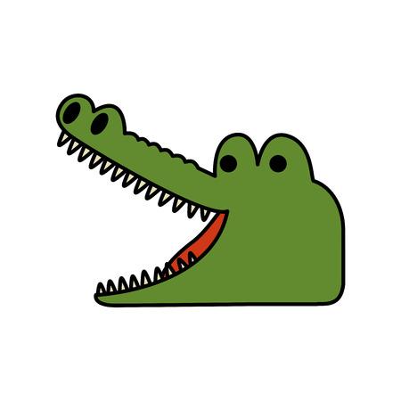 crocodile wild animal icon vector illustration design