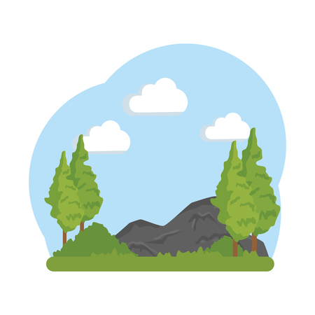 landscape savannah scene icon vector illustration design Ilustracja