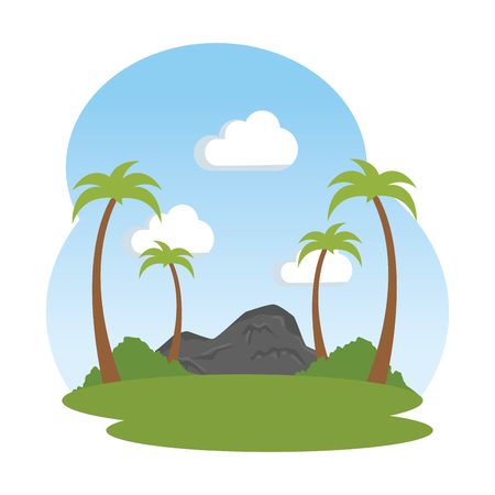 landscape savannah scene icon vector illustration design 向量圖像