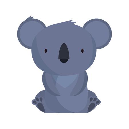 kleiner koala wilder charakter vektorillustrationsdesign