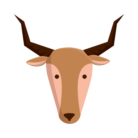 african antelope wild character vector illustration design Illustration
