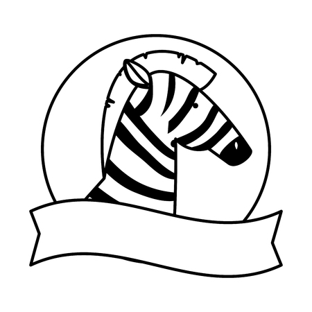 african zebra wild character vector illustration design 矢量图像