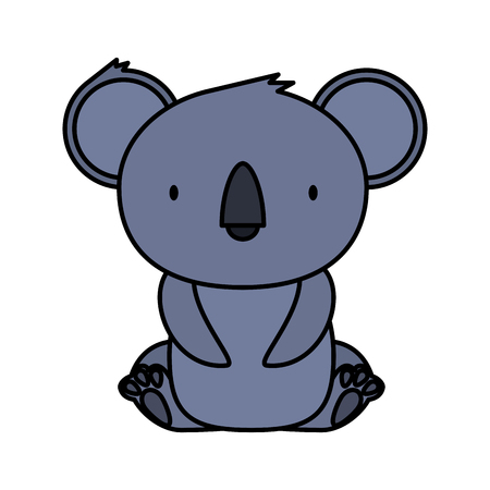 little koala wild character vector illustration design