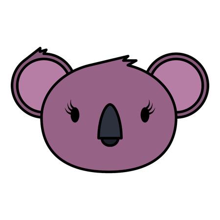 little koala female wild character vector illustration design
