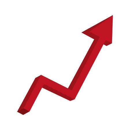 Estadísticas de flecha hacia arriba diseño de ilustración de vector de icono