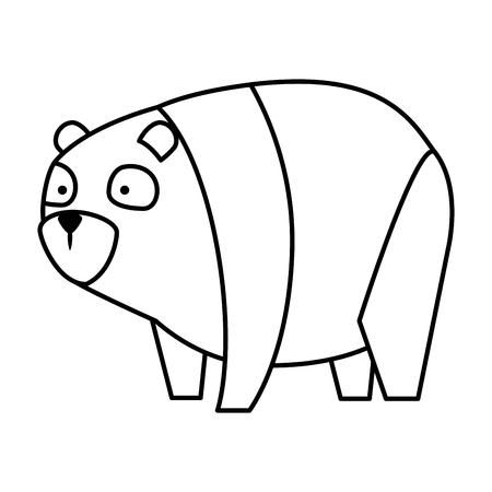 Conception d'illustration vectorielle de mignon ours panda caractère Vecteurs