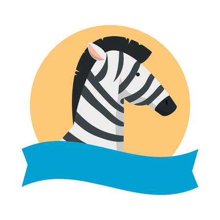 african zebra wild character vector illustration design Stockfoto - 125113553