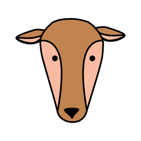 african female antelope wild character vector illustration design