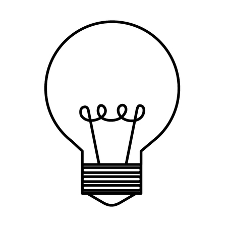 bulb light isolated icon vector illustration design Çizim