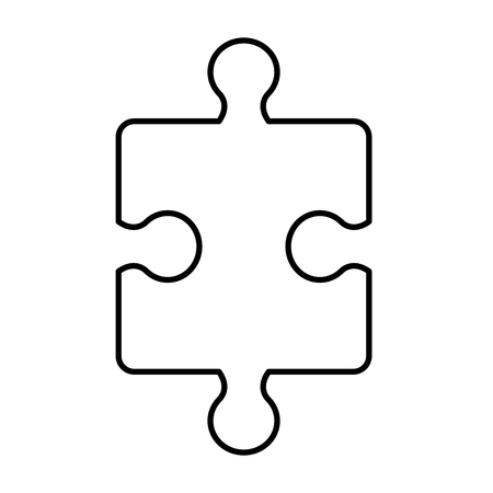 puzzle game piece icon vector illustration design