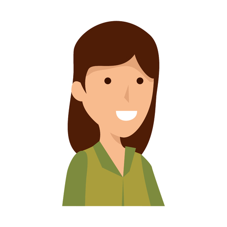 woman worker of zoo character vector illustration design 矢量图像