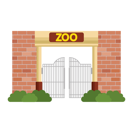 entrance facade of zoo vector illustration design