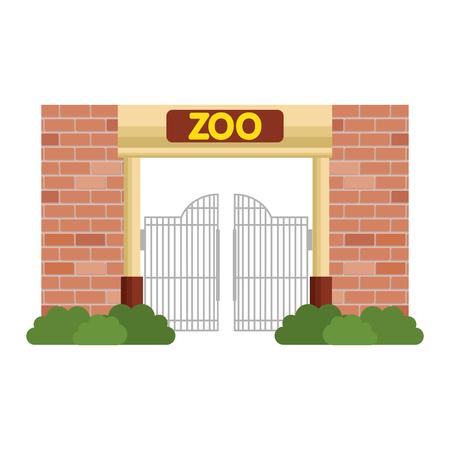 Façade d'entrée du zoo vector illustration design Vecteurs