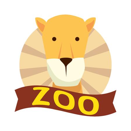 african lioness wild animal vector illustration design
