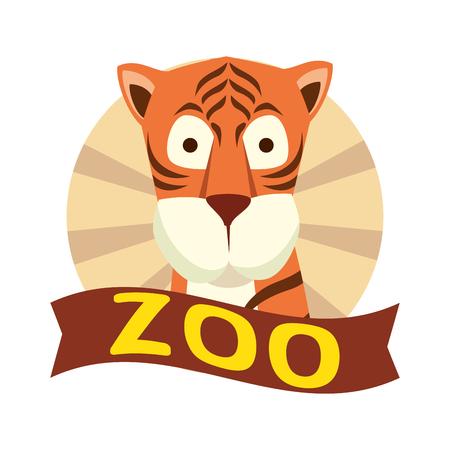 african tiger wild character vector illustration design 向量圖像