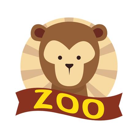 funny monkey wild character vector illustration design