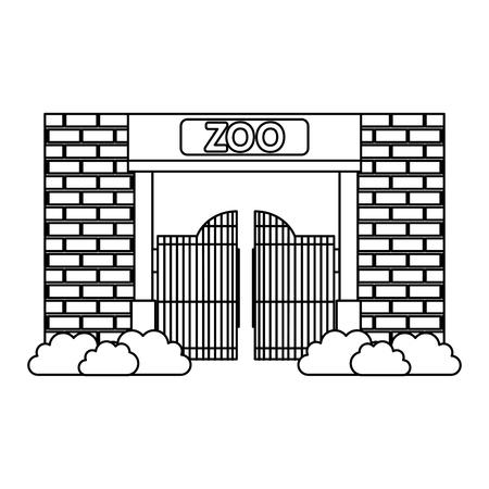 entree gevel van dierentuin vector illustratie ontwerp