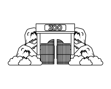entrance facade of zoo vector illustration design 版權商用圖片 - 117340070