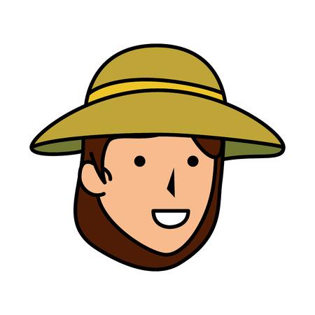 woman worker of zoo head character vector illustration design Stock Illustratie