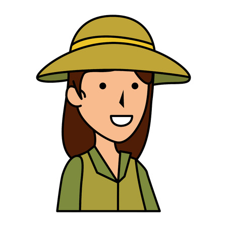 woman worker of zoo character vector illustration design Illustration