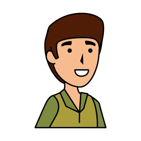 man worker of zoo character vector illustration design