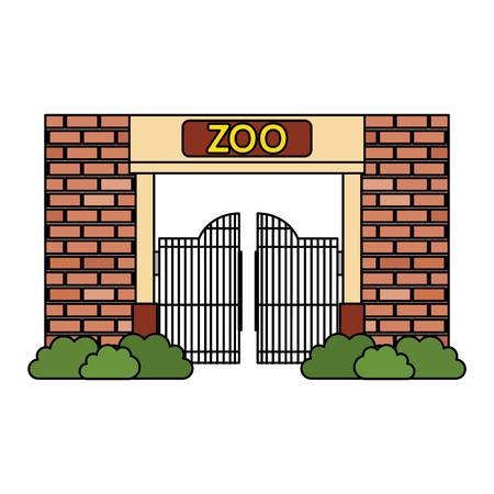 Façade d'entrée du zoo vector illustration design