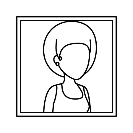 picture of young woman character vector illustration design Stock Illustratie