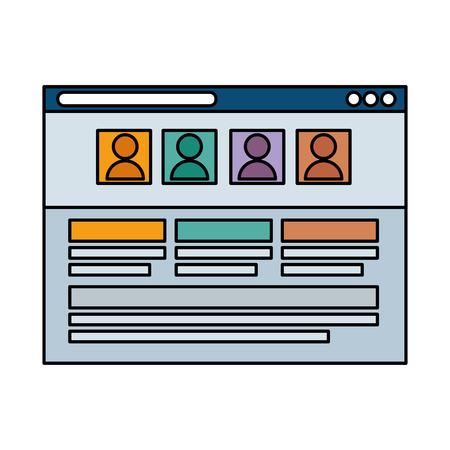 szablon strony internetowej na białym tle ikona wektor ilustracja projekt Ilustracje wektorowe