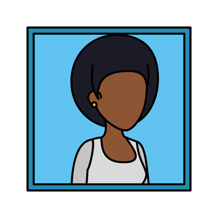 picture of young black woman vector illustration design Stock Illustratie
