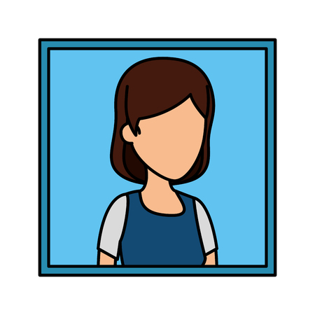 picture of young woman character vector illustration design Illustration