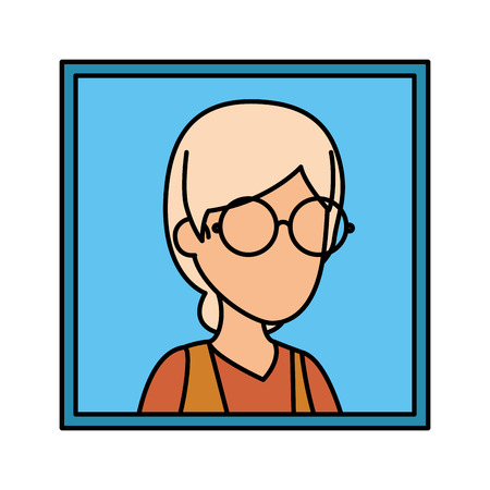 picture of old woman vector illustration design