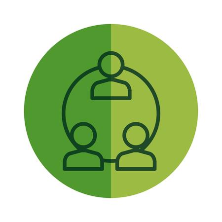 teamwork users avatars icon vector illustration design