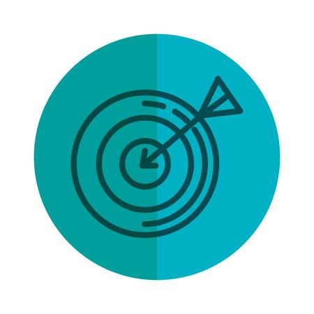 cel z ikoną strzałki wektor ilustracja projektu Ilustracje wektorowe