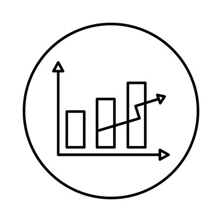 statistics bars and arrow vector illustration design Ilustrace