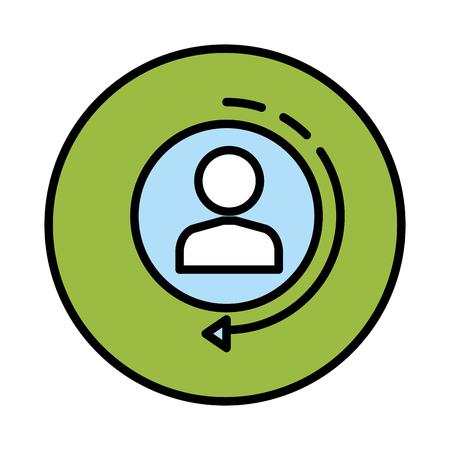 avatar utente isolato icona illustrazione vettoriale design