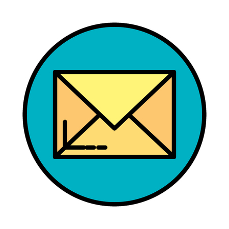 envelope mail isolated icon vector illustration design 向量圖像