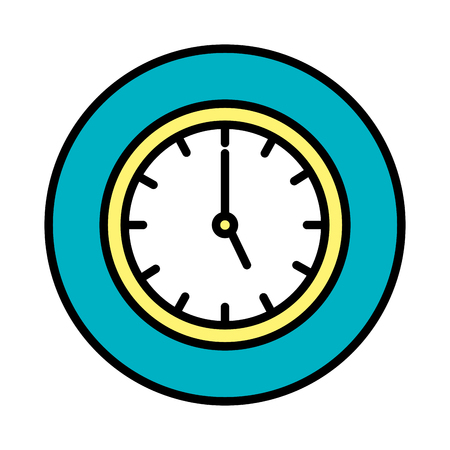time clock isolated icon vector illustration design Banque d'images - 125078503