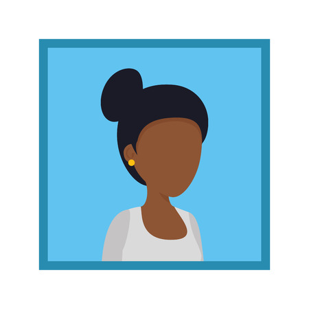 picture of young black woman vector illustration design Illustration