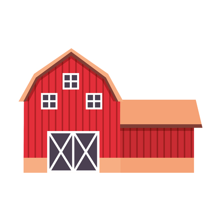 barn farm fresh on white background vector illustration