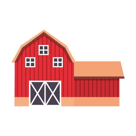 fattoria fienile fresca su sfondo bianco illustrazione vettoriale