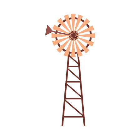 windmill farm fresh on white background vector illustration Banque d'images - 117661131