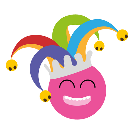 funny smiley with hat april fools day vector illustration