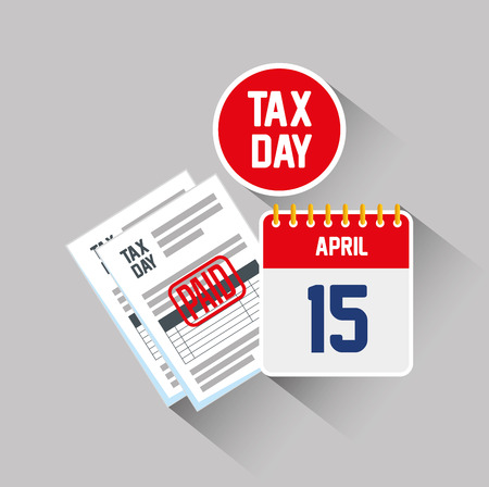 service tax report document with calendar vector illustration