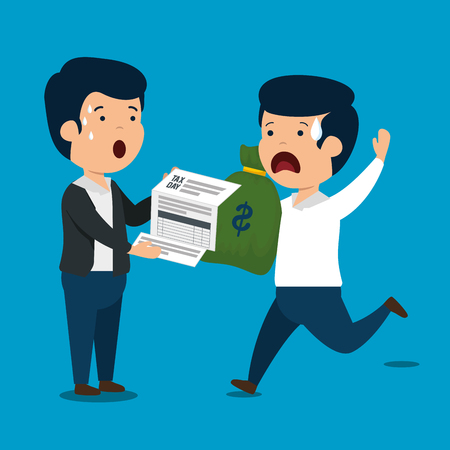 men with finance service tax and money vector illustration