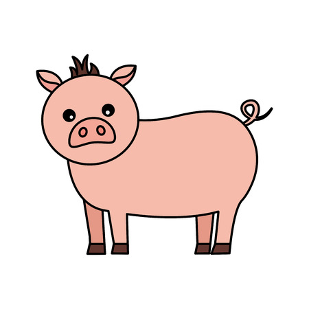 pig farm animal on white background vector illustration Stock Illustratie
