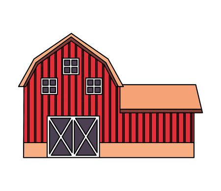barn farm fresh on white background vector illustration 스톡 콘텐츠 - 124907402