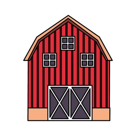 barn farm fresh on white background vector illustration 스톡 콘텐츠 - 124907405